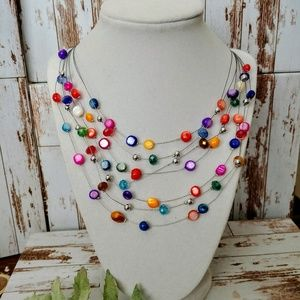 Jewelry - Colorful Multi-Layered Necklace